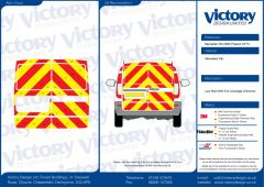 C8 Oralite 5960 Red & ORACAL 7510 RapidAir Fluo Yellow Mercedes Vito Standard Roof 2003  Full Rear Kit