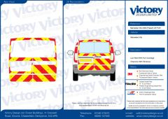 C8 Oralite 5960 Red & ORACAL 7510 RapidAir Fluo Yellow Mercedes Vito Standard Roof 2003  Full Glazed Kit