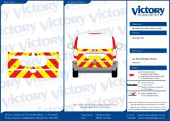 C8 Oralite 5960 Red & ORACAL 7510 RapidAir Fluo Yellow Mercedes Vito Standard Roof 2003  Tailgate Half Rear Kit