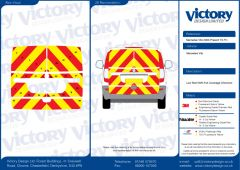 C8 Oralite 5960 Red & ORACAL 7510 RapidAir Fluo Yellow Mercedes Vito Standard Roof 2003  Tailgate Full Rear Kit