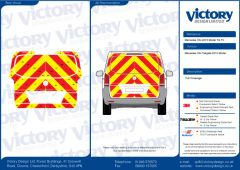 C8 Oralite 5960 Red & ORACAL 7510 RapidAir Fluo Yellow Mercedes Vito Tailgate 2015 Model Full Rear