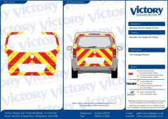 C8 Oralite 5960 Red & ORACAL 7510 RapidAir Fluo Yellow Mercedes Vito Tailgate 2015 Model Full Glazed