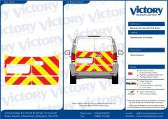 C8 Oralite 5960 Red & ORACAL 7510 RapidAir Fluo Yellow Mercedes Vito Model Below Window