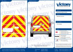 C8 Oralite 5960 Red & ORACAL 7510 RapidAir Fluo Yellow Mercedes Vito 2016 Full Rear Kit