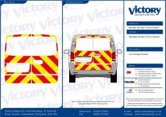 C8 Oralite 5960 Red & ORACAL 7510 RapidAir Fluo Yellow Mercedes Vito 2016 Model Full Glazed
