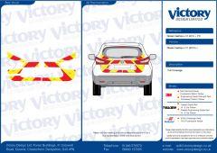 C8 Oralite 5960 Red & ORACAL 7510 RapidAir Fluo Yellow Nissan Qashqai 2013