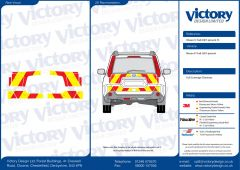 C8 Oralite 5960 Red & ORACAL 7510 RapidAir Fluo Yellow Nissan X-Trail 2007