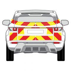 C8 3MDG Red & 3M Saturn Fluo Yellow Range Rover Evoque 2011 Full Coverage Below Windows