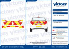 C8 Nikkalite Crystal Grade Red & HI-SCAL Fluo Yellow Vauxhall Astra Hatch 1998 - 2004 Full Coverage Below Windows