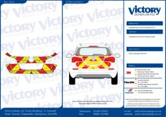 C8 3MDG Red & 3M Saturn Fluo Yellow Vauxhall Astra Estate 2010  Full Coverage Below Windows