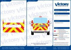 C8 Nikkalite Crystal Grade Red & HI-SCAL Fluo Yellow Vauxhall Combo Van Standard Roof 2011 Half Rear Kit