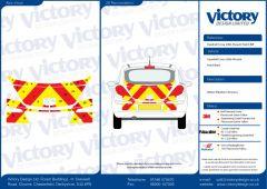 C8 Nikkalite FEG Red & HI-SCAL Fluo Yellow Vauxhall Corsa Van 2006  Full Coverage Below Windows