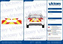 C8 Nikkalite FEG Red & HI-SCAL Fluo Yellow Vauxhall Insignia 2008   Estate Full Coverage Below Windows