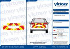 C8 Oralite 5960 Red & ORACAL 7510 RapidAir Fluo Yellow Vauxhall Vectra 2002 -2008 Estate