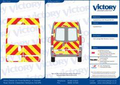C8 Oralite 5960 Red & ORACAL 7510 RapidAir Fluo Yellow Vauxhall Vivaro High Roof 2001 Full Glazed Kit