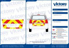 C8 3MDG Red & 3M Saturn Fluo Yellow Vauxhall Zafira 2005 -2011 Full Coverage Below Windows
