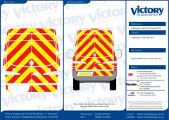 C8 Oralite 5960 Red & ORACAL 7510 RapidAir Fluo Yellow VW Crafter High Roof 2007 Full Rear Kit