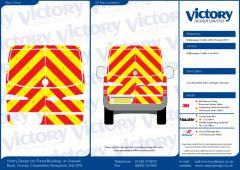 C8 Oralite 5960 Red & ORACAL 7510 RapidAir Fluo Yellow VW Crafter Standard Roof 2007 Full Rear Kit