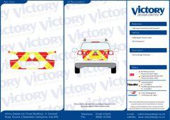 C8 Oralite 5960 Red & ORACAL 7510 RapidAir Fluo Yellow VW Passat 2010  Estate