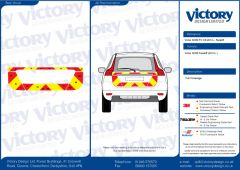 C8 Oralite 5960 Red & ORACAL 7510 RapidAir Fluo Yellow Volvo XC60 Face Lift 2013