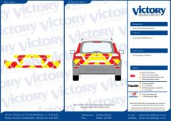 C8 Oralite 5960 Red & ORACAL 7510 RapidAir Fluo Yellow Volvo XC70 2008