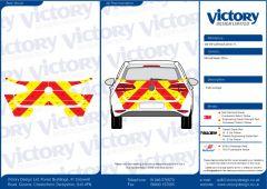 C8 Oralite 5960 Red & ORACAL 7510 RapidAir Fluo Yellow Volkswagen Golf Hatchback 2014