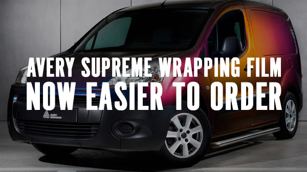 Ordering Avery Supreme Wrapping Film just got easier