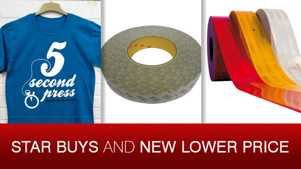 Star Buys - save on garment film, banner tape and ECE104 reflective tape